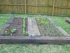 Well Used Railroad Ties Make Excellent Raised Beds.