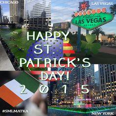 """St Patrick's Day In the #USA   #CHICAGO - Chicagon järvi muutetaan vihreäksi St Paddy's päivän kunniaksi #stpatricksday   #NEWYORK - Värikkäät valot 6th Avenuella St Patrick's päivän kunniaksi   #LasVegas - kuussa """"Welcome Las Vegas"""" kyltti valaistaan vihreäksi St Paddy's päivän johdosta #happypaddysday   Study More Languages - Kielimatka   #smlmatka #kielimatka #kielikurssi #GoGreen4PatricksDay #suomi #finland #finnishboy #finnishgirl #matka #green ^Tiina"""
