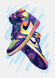 Jordan Shoes Wallpaper, Sneakers Wallpaper, Nike Wallpaper, Painting Wallpaper, Nike Drawing, Dope Wallpapers, Sneaker Art, Mini Canvas Art, Shoe Art
