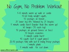 No Gym, No Problem #Workout from Lindsay Cotter