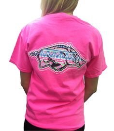 Printed on a 100% cotton comfort color short sleeve shirt, the back and front pocket Razorback decal has an Aztec design that will make you stand out while you cheer Woo Pig Sooie! $19.99