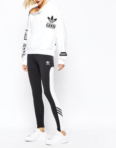 Image 4 of adidas Originals Rita Ora Leggings With Contrast Panel