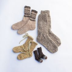 fibershed - sock pattern set:  pdf