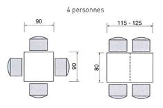 Une Table Carree Et Rectangulaire Pour 4 Personnes DimensionsDining RoomsRecycled