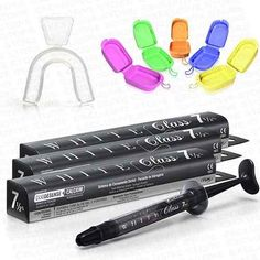 kit gel clareador dental white class 7,5% + moldeira +brinde