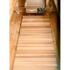 Barrel Sauna Floor Kit - Almost Heaven Saunas Black Bath Bomb, Sauna Accessories, Barrel Sauna, Sauna Heater, Infrared Sauna, Commercial Flooring, Red Cedar, Door Handles, Stairs