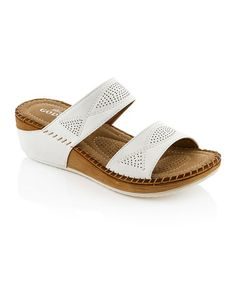 Look what I found on #zulily! White Twist Stitch Sandal by Lady Godiva #zulilyfinds