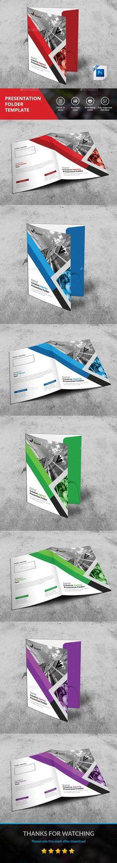 #Presentation Folder - #Stationery Print #Templates Download here: https://graphicriver.net/item/presentation-folder/20253927?ref=alena994