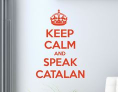 vinilo adhesivo Keep calm and speak catalan