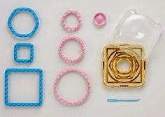 Lavori a maglia, uncinetto, knifty knitter, telaio di maria gio, uncinetto tunisino, forcella. Punti base. Tutorial e corsi SEO. Amazon Art, Loom Knitting, Sewing Stores, Hana, Pink Blue, Sewing Crafts, Shapes, Wool, Crochet