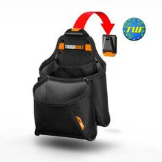 The TOUGHBUILT Mega Supply Pouch transforms how professionals carry huge quantities of fasteners and supplies. The patented ClipTech Hub allows this pouch to clip on and off any belt. Leather Tooling, Cowhide Leather, Leather Tool Pouches, Belt Storage, Work Belt, Utility Pouch, Pocket Organizer, Belt Pouch, Sling Backpack