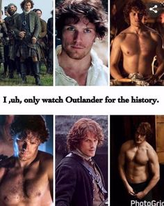 I am not ashamed to say that I watch Outlander to watch Jamie! Sam Heughan Outlander, Outlander Serie, Watch Outlander, Outlander Funny, Outlander Quotes, The Outlander, James Fraser Outlander, Jamie Fraser, Mejores Series Tv