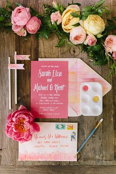 We're head over heels for the romantic wedding invitations featured in the current Fall/Winter issue! Tyler + Lindsey perfectly captured each invitation suite at the Propmaker Farm. Invite suite by Design Roots. #weddinginvitation #texaswedding