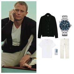 Estilo James Bond, James Bond Style, James Bond Outfits, James Bond Clothing, Stylish Mens Outfits, Casual Outfits, Business Casual Men, Men Casual, James Bond Actors
