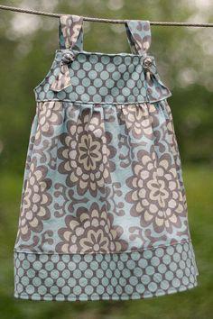 PDF Apron Knot Dress Sewing Pattern Sizes 3 m Girls 8