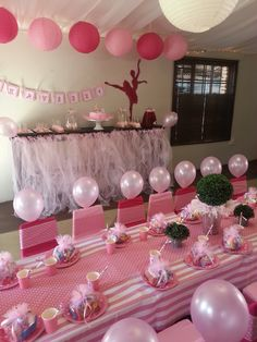 Ballet party kids table