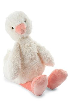 Jellycat 'Clucky Ducky' Stuffed Animal Rattle
