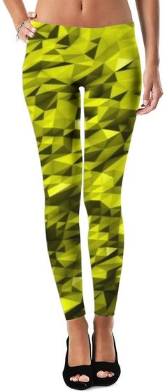 Reflective Gold Ariel Winter Custom Rave Party Style Leggings by Willy Badu.