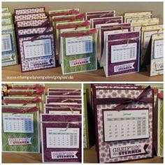 Stempelkrempel mit Papier Tischkalender / Jahreskalender 2015 mit Maßen und Anleitung