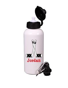 Personalized Hockey Water Bottle Great Party Favor GIft, Bar Bat Mitzvah Giveaways