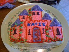 castle sheet cake decoration - Google Search