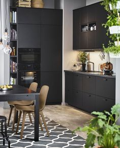 Wishlisted: Kungsbacka by Ikea (+ discover our current kitchen!) – polienne – Home Office Design Layout Ikea Kitchen Design, Ikea Design, Küchen Design, Home Decor Kitchen, Kitchen Furniture, Kitchen Interior, New Kitchen, Design Ideas, Black Ikea Kitchen