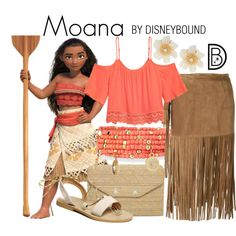 Moana by leslieakay on Polyvore featuring P.A.R.O.S.H., Stella & Dot, Emily & Ashley, Lydell NYC, disney and disneybound