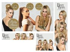 Website Banners for Beauty Works