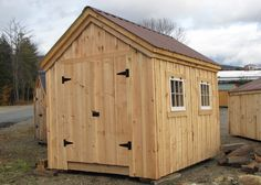 wooden storage shed in sizes  8x8, 8x10, 8x12, 8x14, from Jamaica Cottage Shop. available as a kit, plan or prefabricated. Must visit next time we are in Vermont.