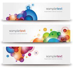Beautiful Modern Banners Vector Graphic #header #banner