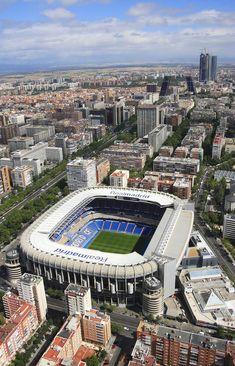 Estadio Santiago Bernabeu, home of Real Madrid CF. Real Madrid Cr7, Real Madrid Football, Real Madrid Logo Wallpapers, Stadium Wallpaper, Spain Soccer, Foto Madrid, Soccer Stadium, Spain Travel, World