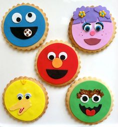 Darling Sesame' Street Cookies!!! Bebe'!!! Perfect for a child's birthday party!!!