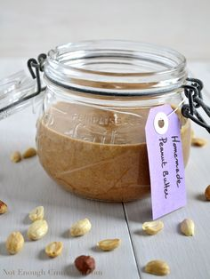 Homemade peanut butter. One ingredient - 15 minutes