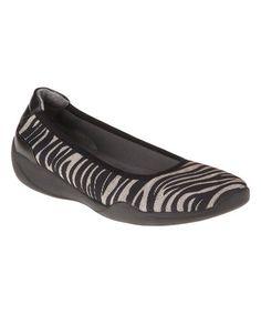 Love this Tan Zebra Joyce Flat on #zulily! #zulilyfinds