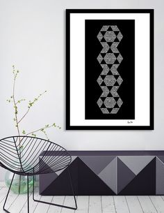 Discover «Abstract Geometric | retro style no. 6», Exclusive Edition Fine Art Print by Melanie Viola - From 23€ - Curioos #wallart #digitalart #modern #trendy #poster #canvas #graphicart #geometric #triangle #exclusive #homedecor #shape #pattern