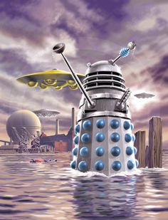 'Doctor Who - The DVD Files' - - 'The Dalek Invasion of Earth.' - I drew this in Photoshop from layouts by Lee Sullivan. Anubis, Doctor Who Illustration, Science Fiction, Doctor Who Wallpaper, Tardis Wallpaper, Serie Doctor, Classic Doctor Who, William Hartnell, Second Doctor