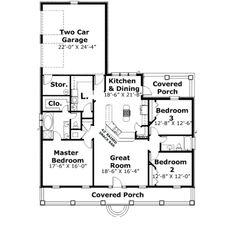 Open plan 1735 sq. ft.