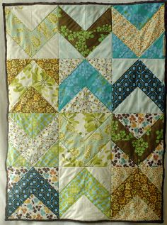I'm addicted to quilts, and this one has amazing earth tones.