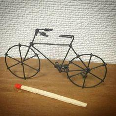 宮崎市ワイヤークラフト教室「はりがね屋ホショ。」:結束線の自転車