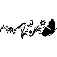 Stickers muraux Animaux - Sticker Design fleur papillon