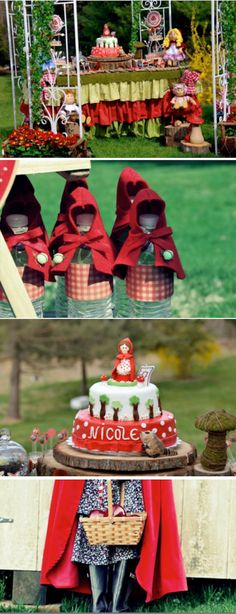 Little Red Riding Hood themed birthday party via Karas Party Ideas