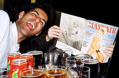 Swigging pints of beer and grinning as a friend holds up a soft porn mag, this was hate preacher Anjem Choudary when he was known as 'Andy', the ladies man law student