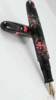 Nakaya Cigar Portable The Art Model Sakura (Cherry Blossoms) Fountain Pen