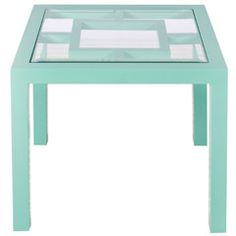 Worlds Away Sag Harbor Turquoise Table from @zinc_door #zincdoor #colorcrave #turquoise #furniture