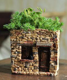 Look at this #zulilyfind! Fairy House Flower Pot #zulilyfinds