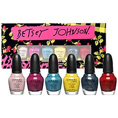 This set of flirty colors designed by Betsey herself is adorable. Sephora by OPI Betsey Johnson Mini Nail Colour Set #nailspotting #sephora