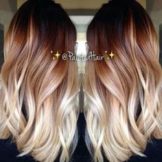 Color melt! i really love this it's the perfect ombre i might do this if somebody could get the perfect ratio of light and dark on my short hair but i have a feeling it would turn into only the ends being blond which is what i basical have now maybe this is somthing i'll do once may hair gets past my shoulders which will be awhile sence it's barly past my chain but i am pregnat so the growing process will spead up!