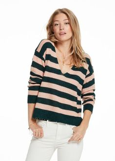 Sweater stribet 137206 Maison Scotch Alpaca Blend Pullover - combo A
