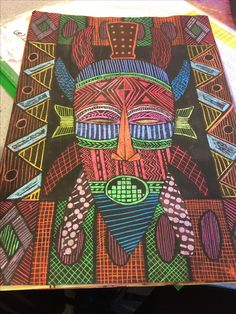 Middle School Art Projects, Classroom Art Projects, Art Classroom, African Art Projects, 7th Grade Art, African Art Paintings, Art Curriculum, Inca, Art Lessons Elementary