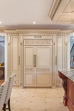 We are designers and manufacturers of high-end custom kitchens and interior woodwork Kitchen Pantry Design, Luxury Kitchen Design, Home Decor Kitchen, Elegant Kitchens, Luxury Kitchens, Beautiful Kitchens, Kitchen Cabinets Drawing, Wooden Kitchen Cabinets, Kitchen Cabinet Inspiration